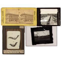 c1900 - Slide Glass Negatives and Stereoview