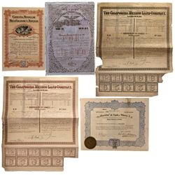 Mexico - 1900 - Land Stock Certificates
