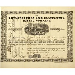 CA - 1864 - Philadelphia and California Mine Stock Certificate