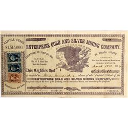 CA - El Dorado,1863 - Enterprise Gold and Silver Mining Co. Stock