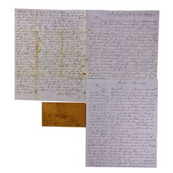 CA - Murphys,Calaveras County - 1853 - Choice Lincoln-Negro Content and Bills of Exchange Discussion