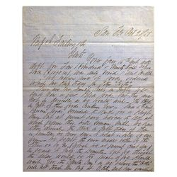 CA - San Francisco,Oct. 28, 1858 - Eugene Kelly & Co. Correspondence Letter