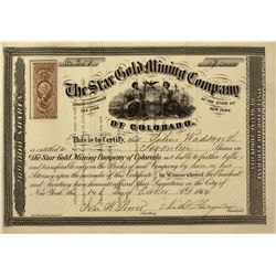 CO - 1864 - Star Gold Mine Stock Certificate