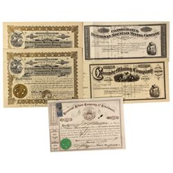 CO - Clear Creek,Georgetown Mining District - 1867 - Clear Creek Stock Certificate