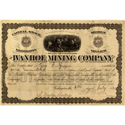 CO - Gilpin County,1867 - Ivanhoe Stock Certificate
