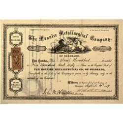 CO - Gilpin County,1867 - Mounier Metallurgical Stock Certificate