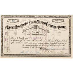 ID - Saw Tooth District,Alturas County Lucky Boy Gold and Silver Mining Company