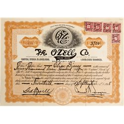 IL - Chicago,Cook County - Sept 20, 1915 - O-Zell Stock Certificate 4