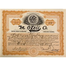 IL - Chicago,Cook County - Oct 30, 1916 - O-Zell Stock Certificate 5