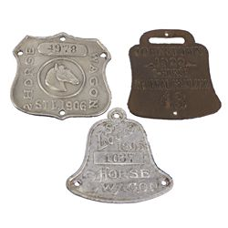 MO - St. Louis,1903, 1906, 1922 - Horse Wagon Metal Licenses