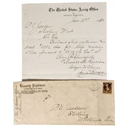 MT - Helena,Lewis & Clark County - 1880 - U.S. Assay Office Letter & Cover