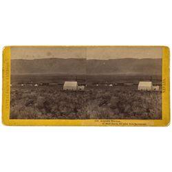 NV - Argenta,Lander County - c1869 - Argenta Station Stereoview