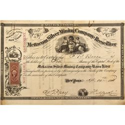 NV - Austin,Lander County - 1868 - Mettacom Silver Mining Company of Reese River Stock Certificate