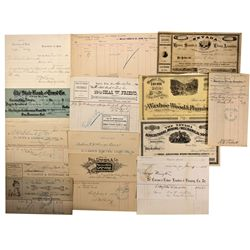NV - Carson City,Ormsby County - 1876, 91 - Billhead Collection