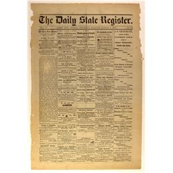 NV - Carson City,Carson City County - 1872 - Daily State Register Newspaper