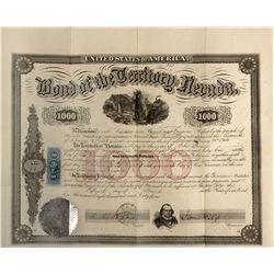 NV - Carson City,Ormsby County - 1864 - Nevada Territorial Bond