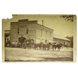 NV - Carson City,Ormsby County - c1875 - Stagecoach Photograph