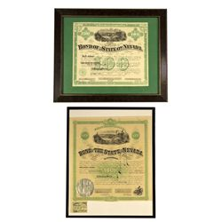 NV - Carson City,Ormsby County - 1867, 1871 - State Bonds