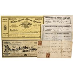 NV - Dayton,Lyon County - 1863-1880 - Dayton Silver Mining Co. Group