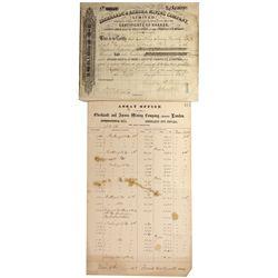 NV - Eberhardt City- 1878, 1881 - Eberhardt & Aurora Mining Company, Limited, London