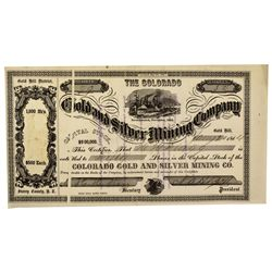 NV - Gold Hill,Storey County - 1864 - Consolidated Silver Mining Company Stock Certificate