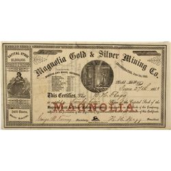 NV - Gold Hill,Storey County - 1863 - Magnolia Stock Certificate