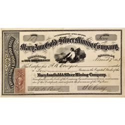 NV - Gold Hill,Storey County - 1863 - Mary Ann Gold and Silver Mining Company Stock Certificate *Ter
