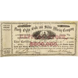 NV - Gold Hill,Storey County - 1864 - North Ophir Stock Certificate