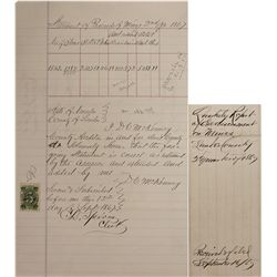 NV - Lander County,1867 - Proceeds of Mines Quarterly Assessment