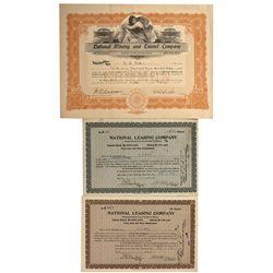 NV - National,Humboldt - 1910-1918 - Rice, G.G. Signature National Stock Certificates