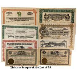 NV - Rhyolite,Nye County - c1905 - Bullfrog Stock Certificates