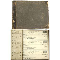 NV - Royal City,Lincoln County - 1881 - Day Silver Mining Company Check Ledger