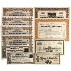 NV - Silver City,Lyon County - 1877-1954 - Silver City Area Stock Certificates