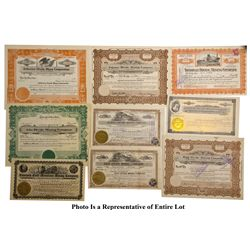 NV - Tonopah,Nye County - 1918-1957 - Tonopah Divide Stock Certificate and Check Group