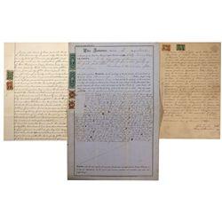NV - Treasure City,White Pine, Lander County - 1869 - Revenue Stamped Documents