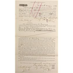 CA - San Francisco,1872 - Union Mill Promissory Note