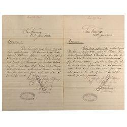 CA - San Francisco,1872 - Sharon Loan Letters