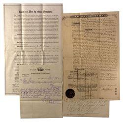 NV - Silver City,Lyon County - 1874 - Jones-Hayward Deed