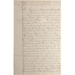 NV - Gold Hill,Storey County - 1873 - Gold Hill Sales Agreement