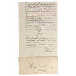 NV - Gold Hill,Storey County - 1873 - Yellow Jacket Mine Agreement