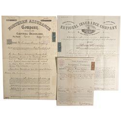 NV - Carson City,Ormsby County - 1868-69 - Santiago Mine Insurance Docs.