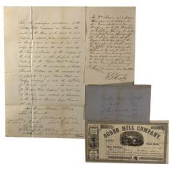CA - San Francisco,1865 - Ogden Stock Documents