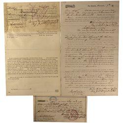 CA - San Francisco,1870 - J.D. Fry Loan Documents