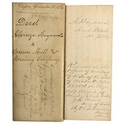 NV - Gold Hill,Storey County - 1873 - Ralston Indenture
