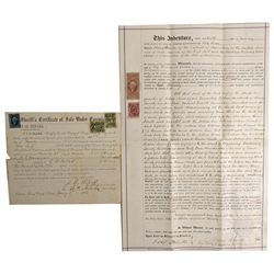 NV - Virginia City,Storey County - 1866 - Storey County Land Sale Document *Territorial*