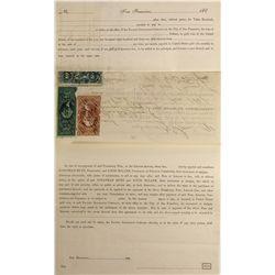 CA - San Francisco,1871 - Revenue Stamped Promissory Note