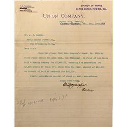 NV - Carson City, Ormsby County - Yerington Letter