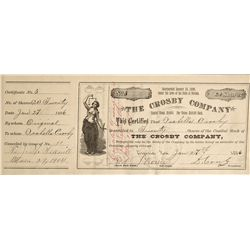 NV - Virgina City,Storey County - 1896-1908 - Crosby Company Stock Certificates