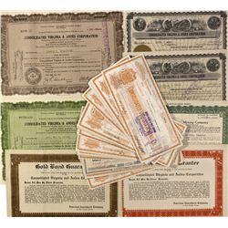 NV - Virginia City,Storey County - 1890 -1944 - Virginia City Stock Certificates