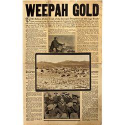 NV - Weepah,Esmeralda County - 1927 - Weepah Tent Village Photo and Newspaper